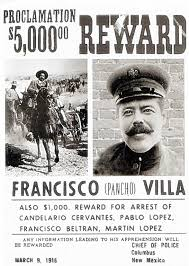 stop modern pancho villa terrorism on u s border the  pancho villa wanted poster