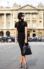 chic office style. Fine Style Officestyleallblackskirttop Throughout Chic Office Style A