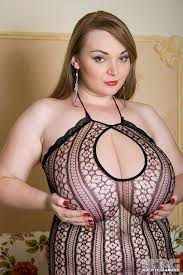 Big breasts in body stockings