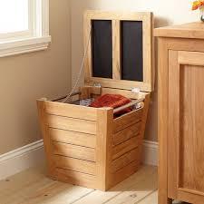 oceanstar bowed front veneer wood laundry hamper with interior bag