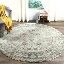 round rug 6 4 foot round rugs vintage distressed grey multi rug 6 for foot round