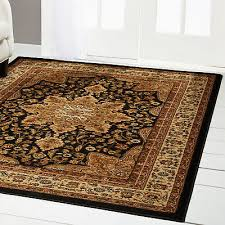 black oriental area rug 4x6 small persian carpet 83 actual 3 6 x