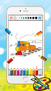 Coloring book for kids apk content rating is everyonelearn more and can be downloaded and installed on android devices supporting 19 api and above. Train Coloring Book For Kid Vehicle Drawing Free Game Paint And Color Good Games Hd Free Download App For Iphone Steprimo Com