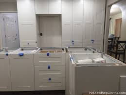 as you can see in these photos areas like the pantry and upper cabinets are not finished with all the filler but since the counter wasn t going to touch