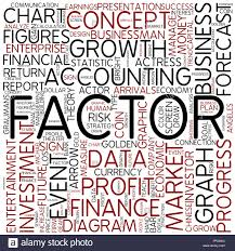 Factor Chart Factor Business Chart Concept Diagram Forecast Stock Photo