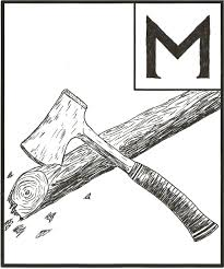 hatchet book drawing