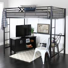 Metal Bunk Bed with Desk Lovely Premium Full Size Black Metal Loft