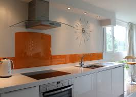 Orange And White Kitchen Kitchen Backsplash Marvelous Orange Back Painted Glass Kitchen