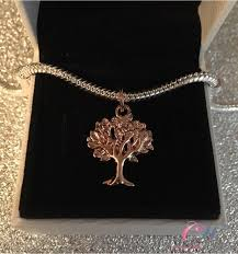 details about rose gold plated tree of life family tree pendant charm for charm bracelet