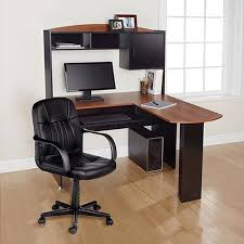 image of contemporary l shaped desk with chair corner