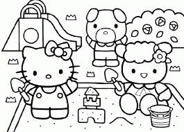 Hello Kitty Kleurplaten Gratis Kleurplaten Van Hello Kitty