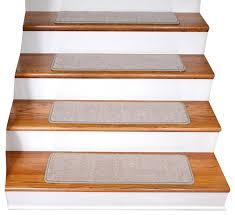 non slip tape free carpet stair treads set of 15 beige contemporary