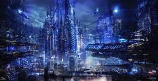 Cool Blue City Wallpaper / Blue City ...