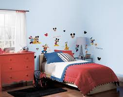 Mickey Mouse Decorations For Bedroom Modern Wallpaper On The Blue Wall Mickey Mouse Room Decorating