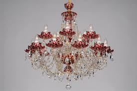 inspiration about red crystal chandeliers and wall lights lucky glass throughout red chandeliers 8