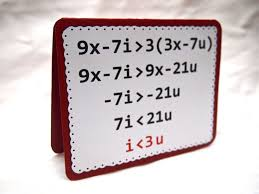 math nerd valentine s day card say i heart you with a math equation