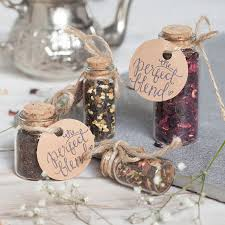 Cute Wedding Favour Tea In Glass Bottle With Cork By Spice Kitchen