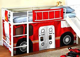 fireman boys firetruck bunk bed curtains set loft furniture kids fire truck loft bed with slide
