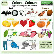 Typical Things Of Each Colour Woodward English