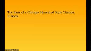 Chicago Style Citation Book