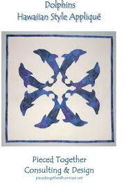94 best Hawaiian Quilt images on Pinterest | Patterns, Molde and ... & Dolphins Hawaiian Style Applique Quilt Pattern. Might make a cool tattoo! Adamdwight.com