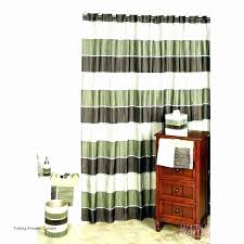 ticking shower curtain lovely brown and white horizontal striped shower curtains curtain ideas