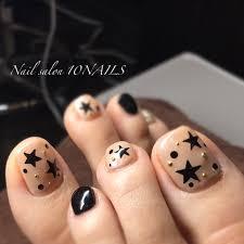 冬フットシンプルワンカラー星 ネイルサロン10nailsのネイル