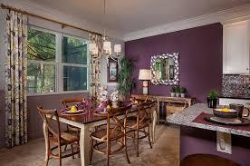 cheerful purple dining room