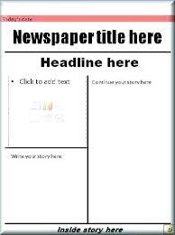 Newspaper Articles Template Printable Blank Newspaper Article Template Front Page News