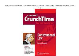Download Crunchtime Constitutional Law Emanuel Crunchtime