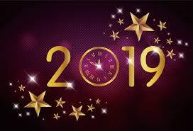 New Year Backgrounds Laeacco New Year 2019 Diamond Wall Stars Clock Photography