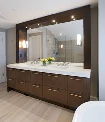 lighting for bathroom mirrors. Elegant Bathroom Design For Large Space With Light Wooden Floor And Big Vanity Mirror Ideas Lighting Mirrors G