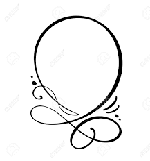 Round Calligraphy Quote Speech Bubble Icon Hand Drawn Text Frame