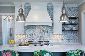 white and gray kitchen with gray mosaic glass tiles by ann sacks