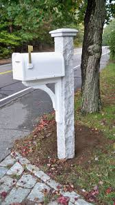 wood mailbox posts. White Mailbox Granite Post Wood Posts