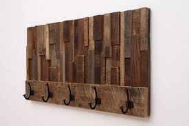 custom made reclaimed wood art coat rack 36x18 5x4