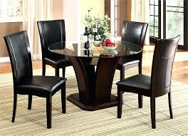 modern dining set for 4 casual yet modern round glass dining table with chairs modern modern