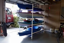 my 100 diy pvc kayak rack red is a