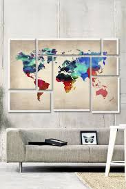 For Living Room Wall Art 17 Best Ideas About World Map Art On Pinterest World Map Wall