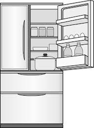 料理14 冷蔵庫 イラストポップの生活のクリップアートカット集