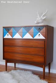 modern painted furniture. I Love Geometric Designs And Mid Century Furniture. Last Year Painted A Nightstand Had To Bring The Design Back For This Dixie Modern Furniture