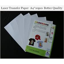 a pcs laser heat transfer paper for light t shirt only cheap   a4 10pcs laser heat transfer paper for light t shirt only cheap papers a4 thermal papel fabric toner transfer paper tl 150r in painting paper from office