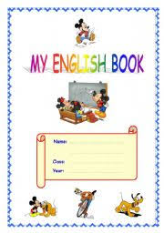 english worksheet cover for english book portfolio