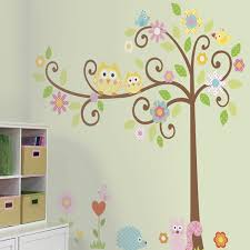 Small Picture Scroll Tree Wall Stickers Girls Wall Stickers RoomMates Wall
