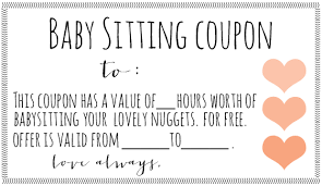 Downloadable Coupons Coupon Template Babysitting Coupon Free Downloadable Babysitting