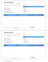 receipt template xls delivery docket template