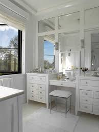 Vanity Stools For Bathrooms Extraordinary Bathrooms Beautiful White Built In Bench With Storage Between