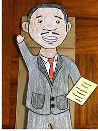 best martin luther king images king jr martin luther king jr paper bag puppet