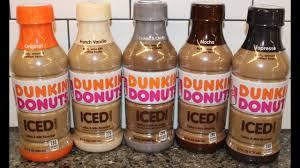 dunkin donuts iced coffee original french vanilla cookies cream mocha espresso review