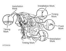 1996 toyota tacoma serpentine belt routing and timing belt diagrams serpentine and timing belt diagrams